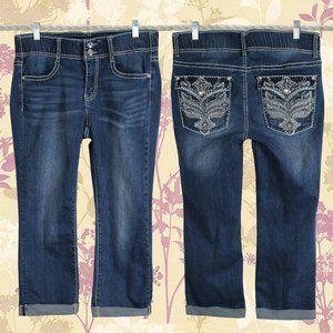 Apt. 9 Bling Pocket Stretchy Capri Pants Size 8